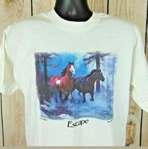 NOS Dead Stock Vintage Single Stitch 'Horse Escape